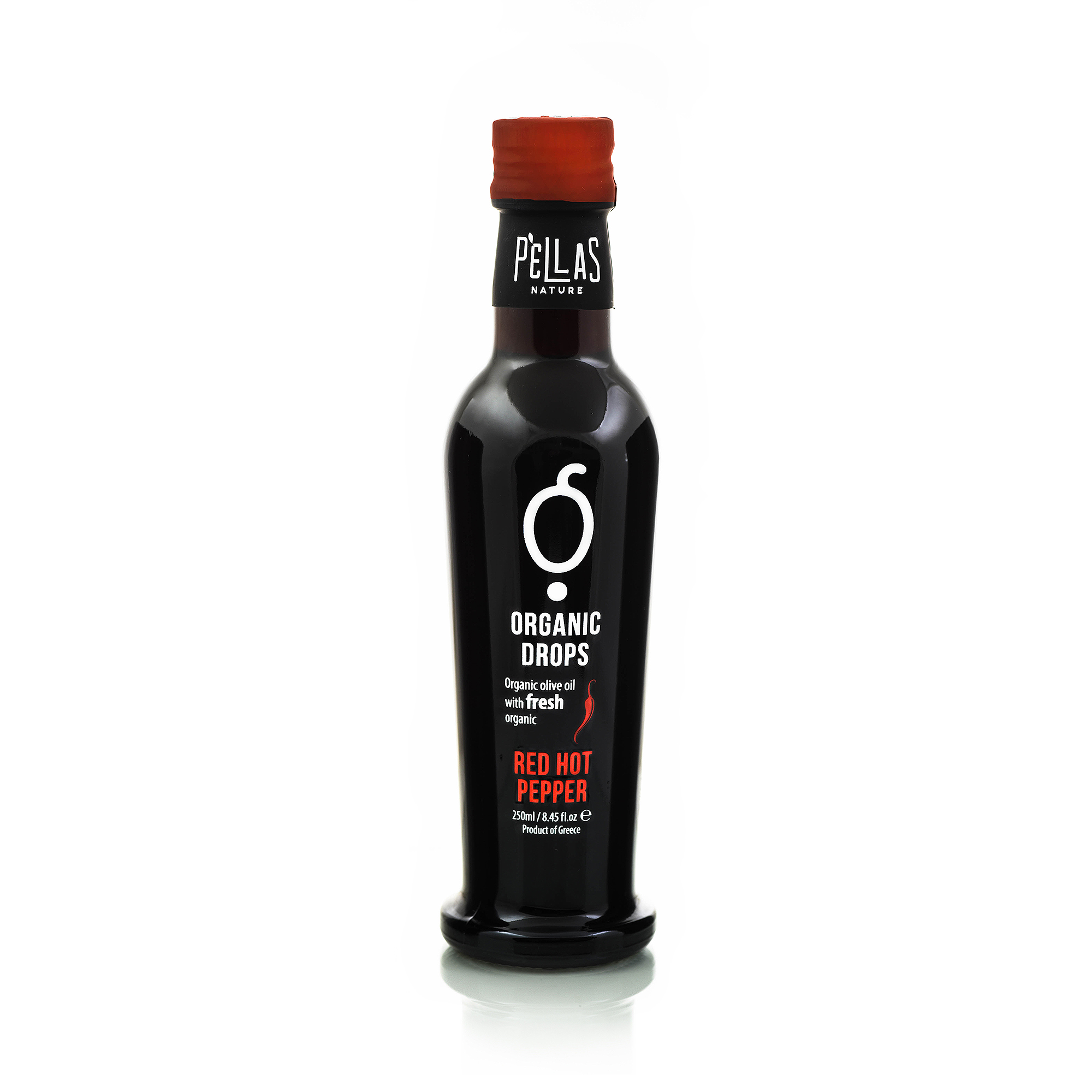 Organic Drops Red Hot Pepper Olive Oil 8.45 oz Bottle