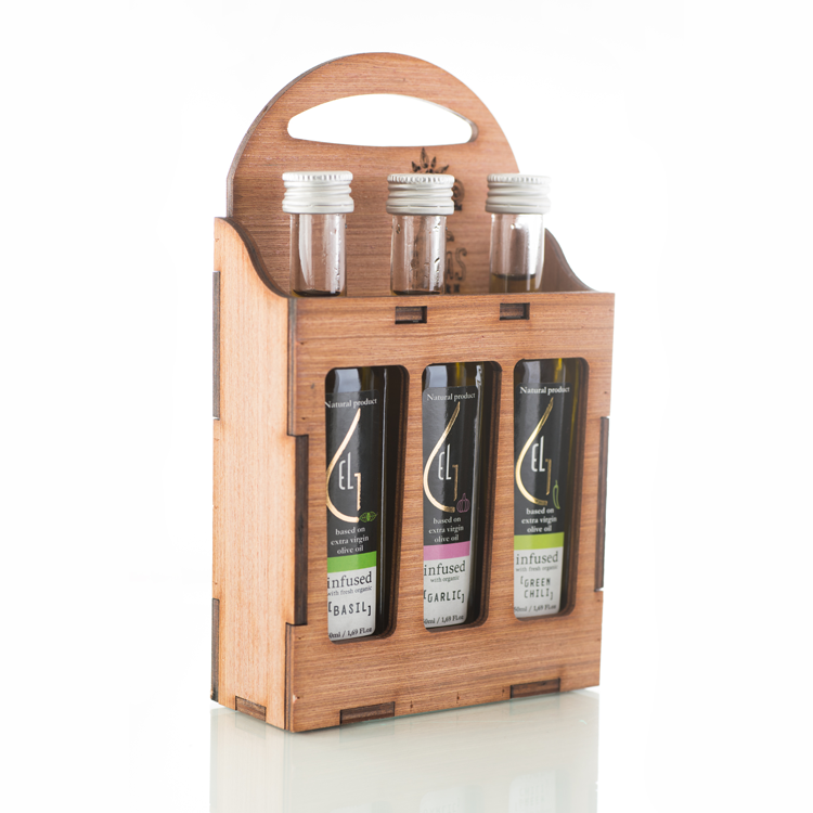 Pellas Nature 3L infused Olive Oil Wooden Gift Set