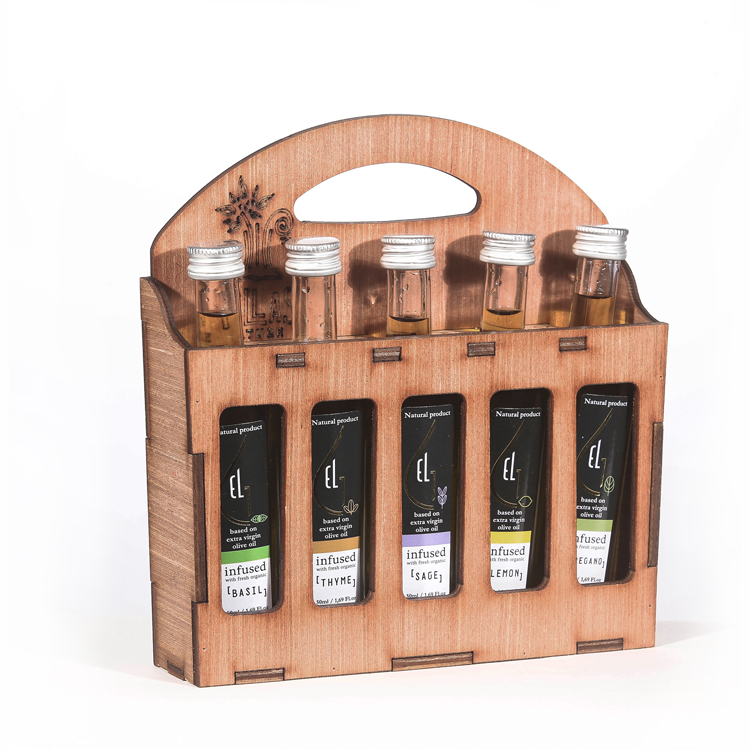 Pellas Nature 5L infused Olive Oil Wooden Gift Set