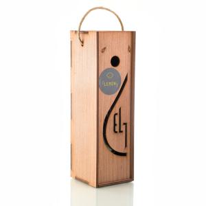 Pellas Nature Lemon infused Olive Oil 8.54 oz Bottle in Wooden Gift Case