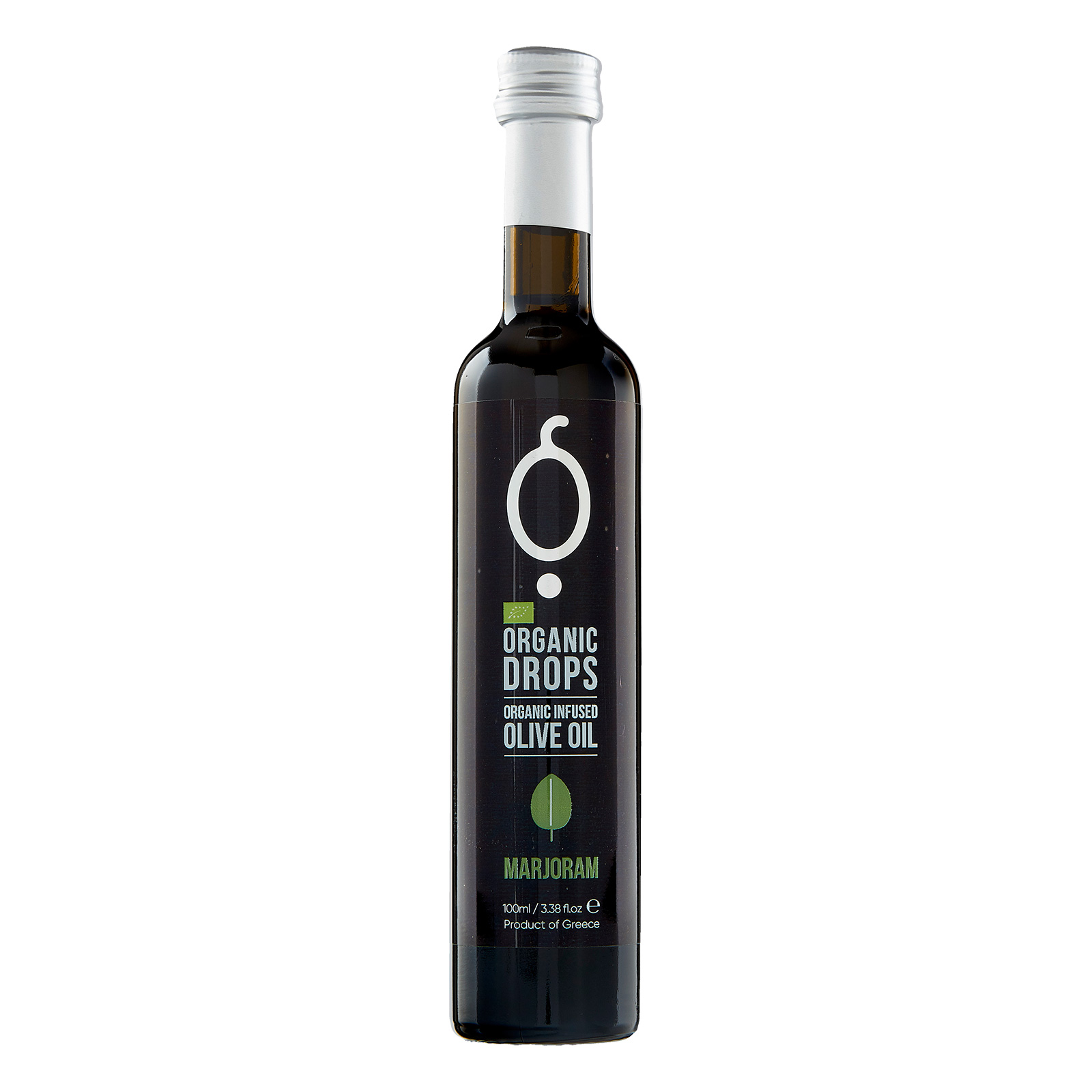 Organic Drops Marjoram Olive Oil 3.38 fl.oz Bottle