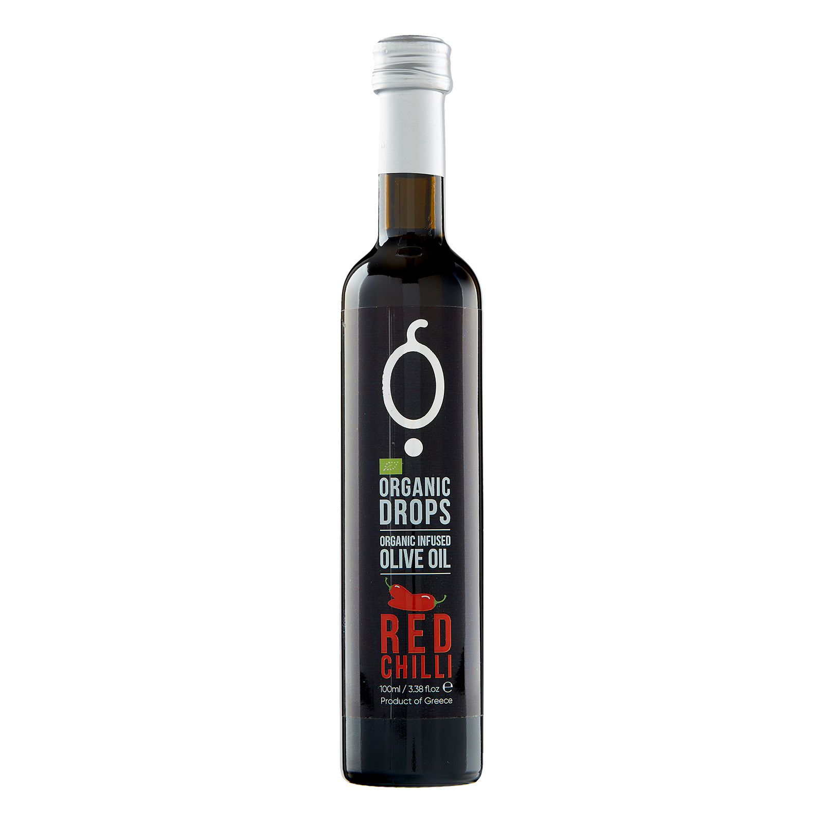 Organic Drops Red Chili Olive Oil 3.38 fl.oz Bottle