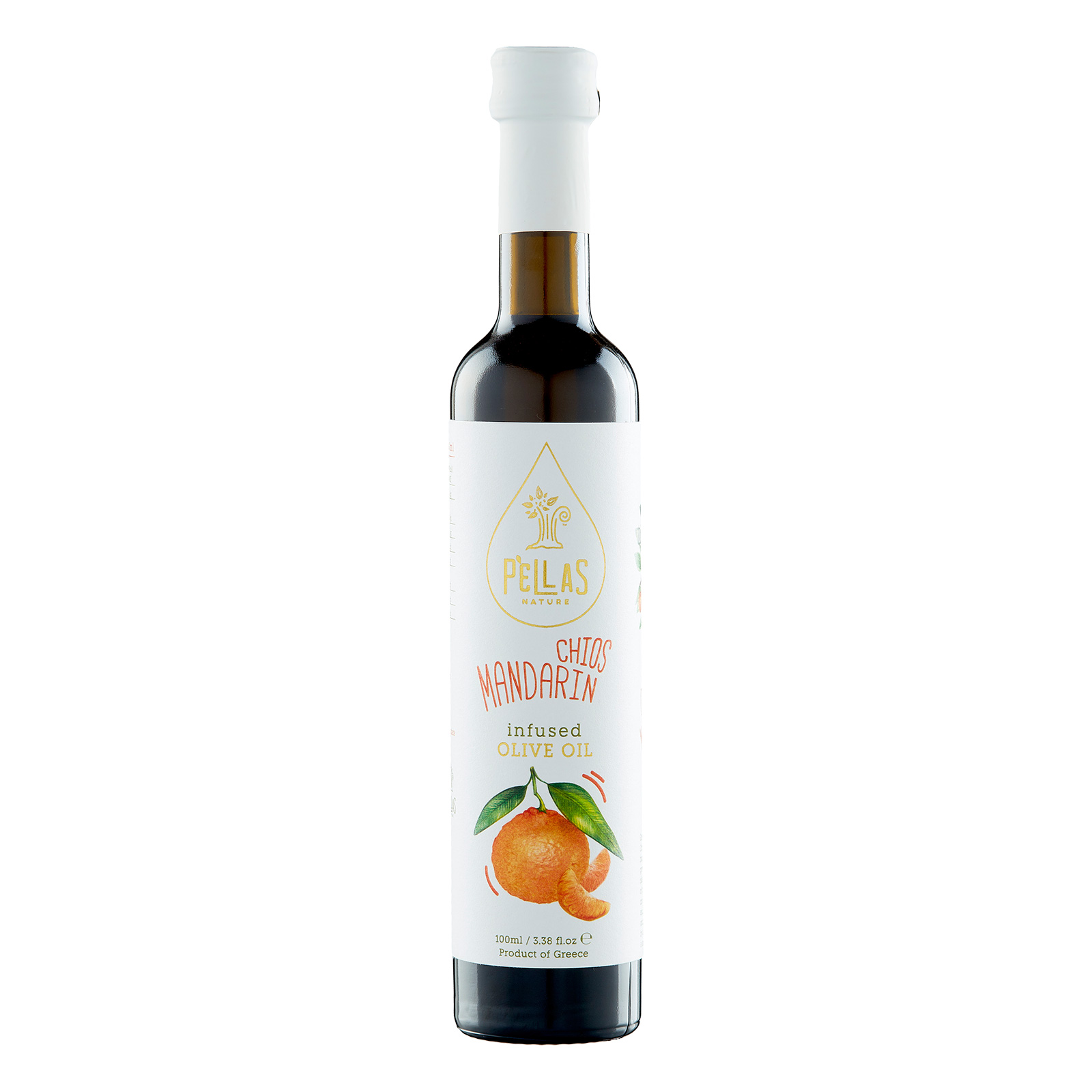 Pellas Nature Chios Mandarin infused Extra Virgin Olive Oil 3.38 fl.oz Bottle