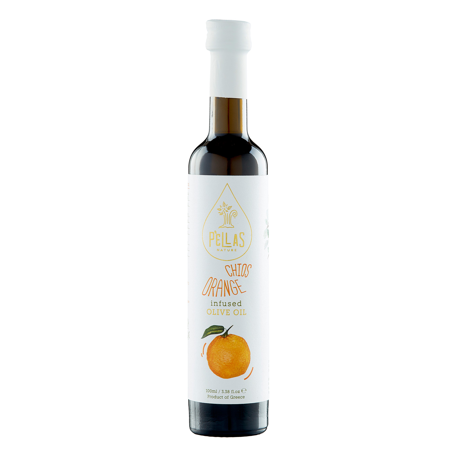 Pellas Nature Chios Orange infused Extra Virgin Olive Oil 3.38 fl.oz Bottle