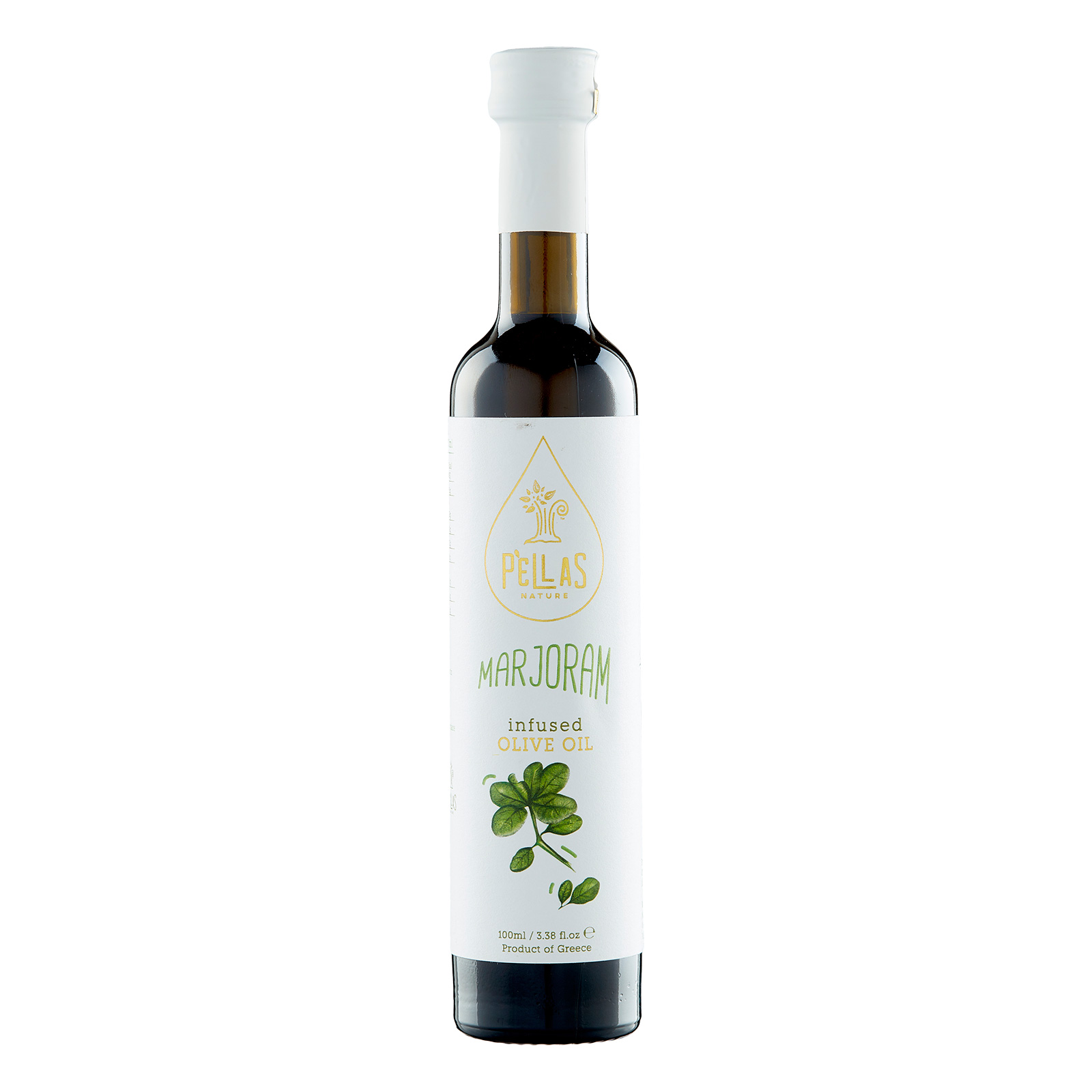 Pellas Nature Marjoram infused Extra Virgin Olive Oil 3.38 fl.oz Bottle