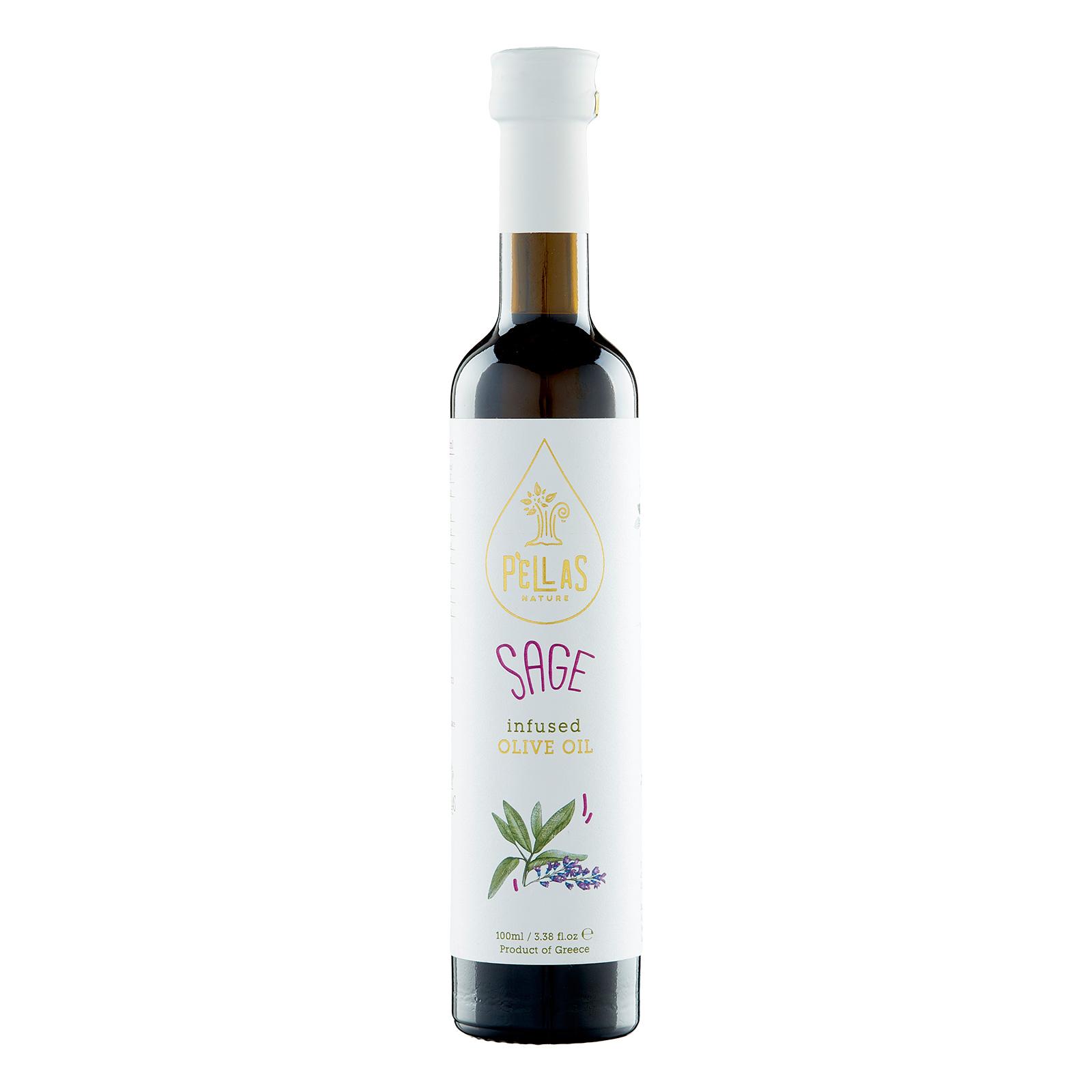 Pellas Nature Sage infused Extra Virgin Olive Oil 3.38 fl.oz Bottle