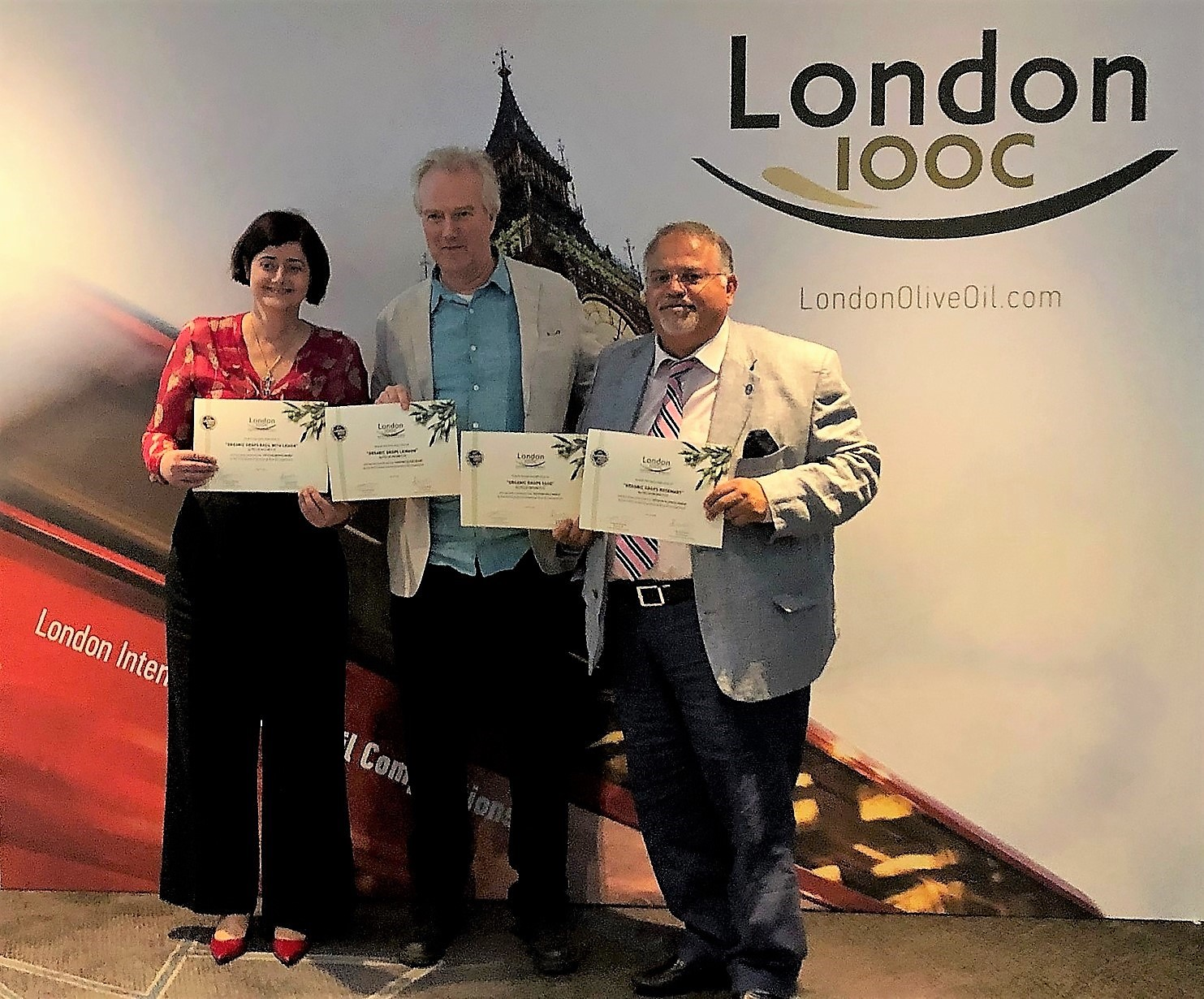 One PLATINUM, one GOLD, one SILVER and one BRONZE award at London IOOC 2019